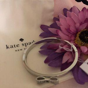 Kate Spade ♠️ Ready Set Bow Bracelet, Silver